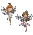 Set of angels vector image