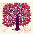 autumn tree with foliage vector image