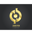 logo design template Golden symbol vector image vector image