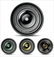 camera lens set vector image vector image