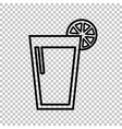 Glass of juice icons vector image
