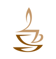 Cup Of Hot Coffee With Milk vector image