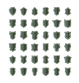 shields set six vector image