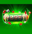 casino slots jackpot 777 signboard vector image
