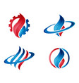 gas and petroleum modern logo vector image
