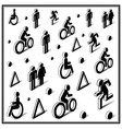 Isometric traffic icons vector image