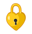 Padlock heart shaped lock vector image