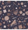 Vintage seamless geometric pattern vector image
