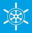 wheel of ship icon white vector image