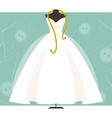 Mannequin with a wedding dress vector image vector image