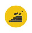 Brickwork silhouette vector image