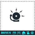 Fire alarm icon flat vector image