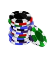 Casino chips stack vector image