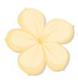 A five-petal yellow flower vector image vector image