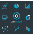 Data analytic icons vector image vector image