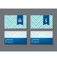 set of modern business cards vector image