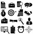 Business finance icons set vector image