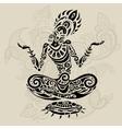 Meditation lotus pose Tattoo style vector image