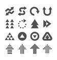 Arrow icons set design vector image