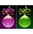 Christmas and New Year circle frame vector image