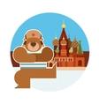Dancing russian bear vector image
