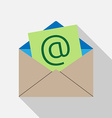 E-mail envelope icon vector image