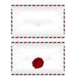 Envelopes over white vector image