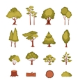 Forest Elements Set vector image