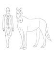 jockey horse vector image