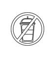 no drinks icon vector image