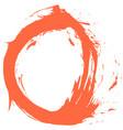 red brushstroke circular shape vector image