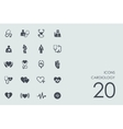 Set of cardiology icons vector image