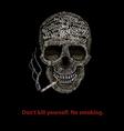 Typographic skill - no smoking vector image