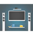 Modern home media entertainment system vector image