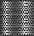 dark metal perforated background hexagon shape vector image