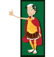 Julius Caesar thumbs up vector image vector image