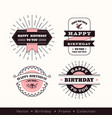 birthday logo frame design element vector image vector image