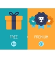 Freemium business model vector image vector image