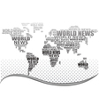 world news concept vector image vector image
