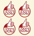 popust thumbs up2 vector image