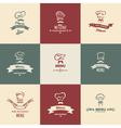 chef menu set vector image vector image