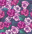 Old style roses seamless pattern vector image