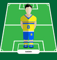 Computer game Sweden Football club player vector image