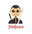 Japaneese Yakuza Cartoon Style Icon vector image