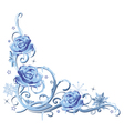 Frozen roses vector image vector image