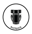 Camping backpack icon vector image