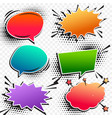 colorful comic pop art chat bubble set vector image