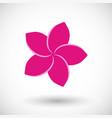 frangipani flat icon vector image