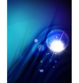 Futuristic abstract blurred flares and colors vector image