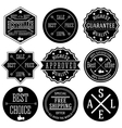 Set of hipster sale labels monochrome typographic vector image